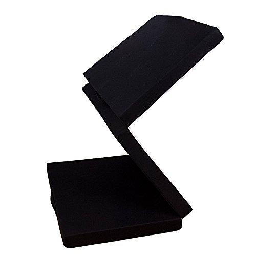 (OSLEEP)高反発マットレス 三つ折り シングル 10cm 25D 120N寝具 洗える カバー 丸洗い 床敷きOK 敷き布団 ベットマット ふとん (ブラック)