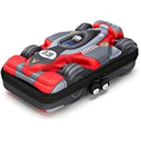 Rockpapa Large-Capacity Race Car Pencil Case, Pencil Box, Storage Box for School Students Boys Teens Kids Toddlers Grey Red