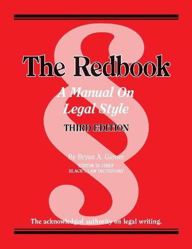 Download The Redbook: A Manual on Legal Style (American Casebook Series) 0314289011