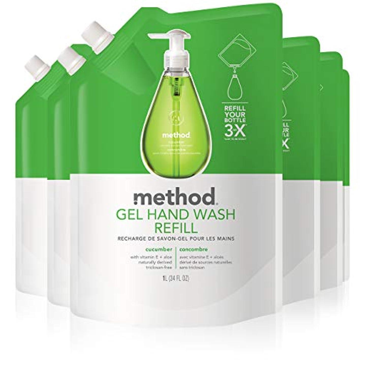 失敗レバー反対するMethod Gel Hand Wash Refill, Cucumber, 34 Ounce by Method