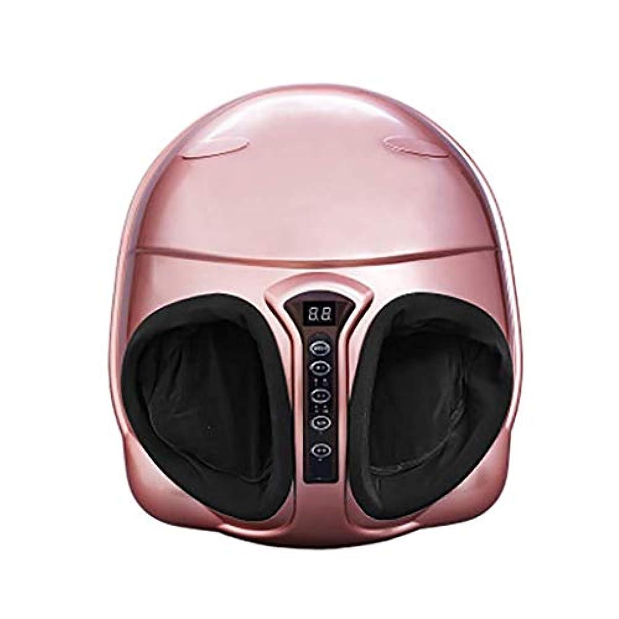 山岳パットルーフフットマッサージャー、電気フットマッサージャー、赤外線/暖房/混練/空気圧/リラクゼーションマッサージ機器、リモートコントロールは、時間指定が可能 (Color : ピンク, Size : Noremotecontrol)