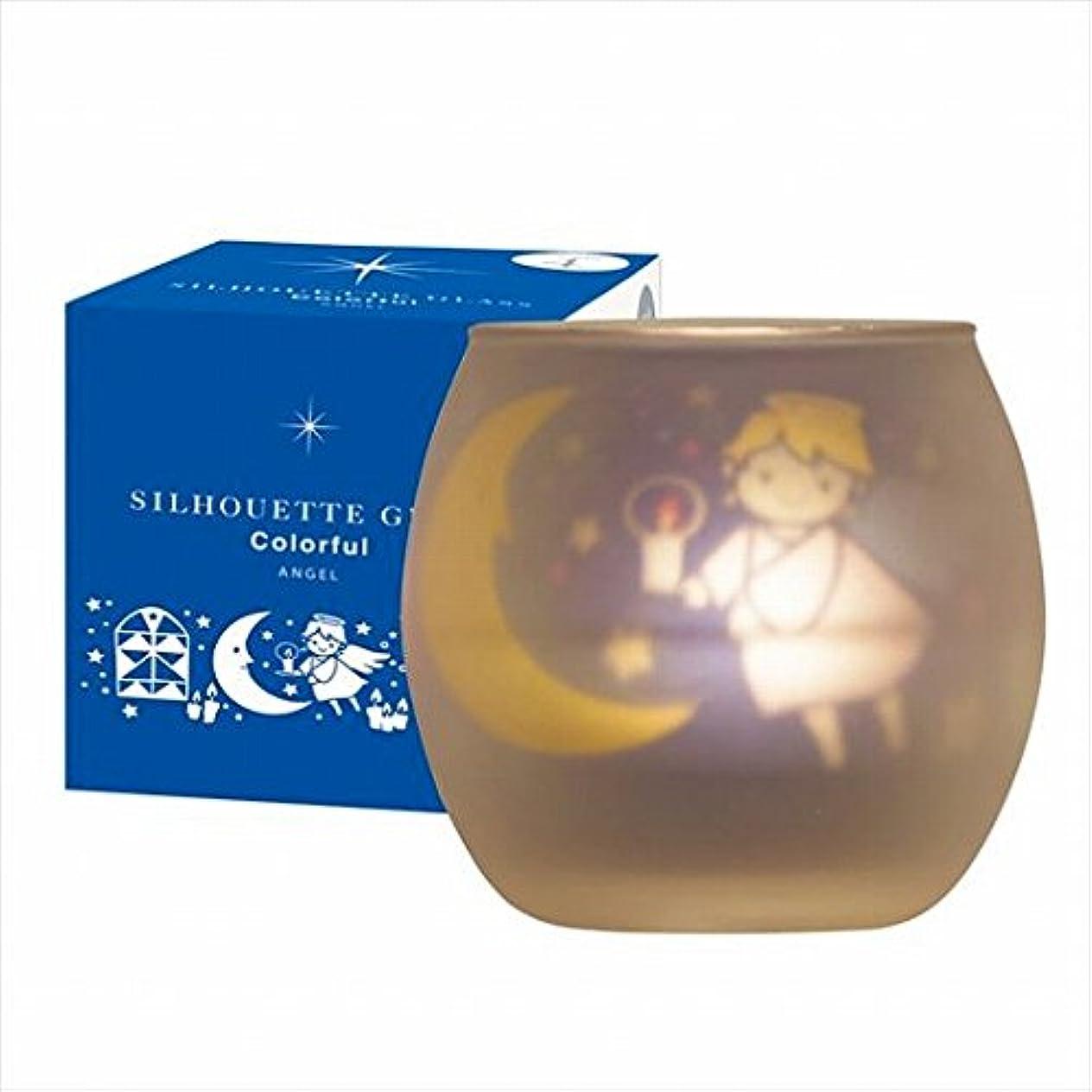 リーフレット固執迷信カメヤマキャンドル(kameyama candle) シルエットグラスカラフルエンジェル【キャンドル4個付き】