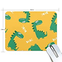マウスパッド ゲーミング オフィス 恐竜柄 黄色い背景 Dude 防水 滑り止めゴム底 耐久性が良い 高級感 おしゃれ 疲労低減 自由な操作できる 厚い 25x19x0.5 cm