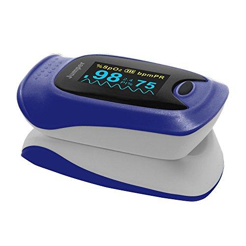 JUMPER (ジャンパー) パルスオキシメータ JPD-500D [ポーチ付き] (ブルー)
