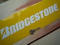 Bridgestone Cut Vinyl Text Sticker White ブリヂストン ブリジストン ブリヂストン ブリジストン ステッカー デカール シール 海外限定 340mm x 45mm [並行輸入品]