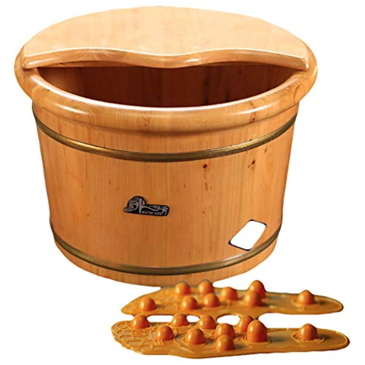 高価な謎めいたせがむ蓋付きの木製マッサージフットスパペディキュアバレル鍼足浴槽足湯木製ステップラダー世帯