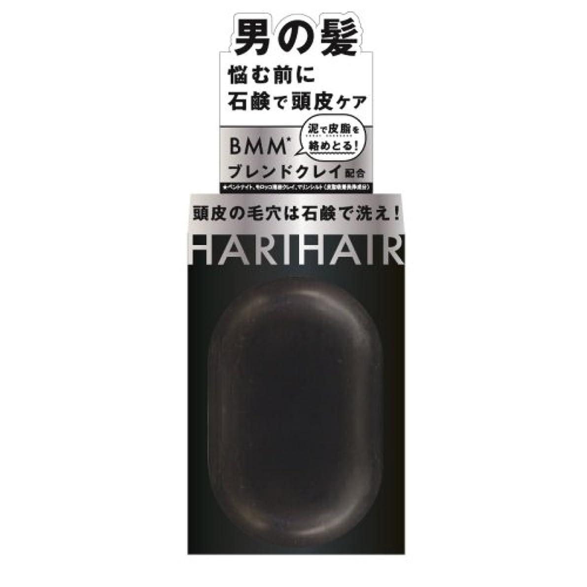 フィールド均等に混雑ペリカン石鹸 ハリヘア 固形シャンプー 100g