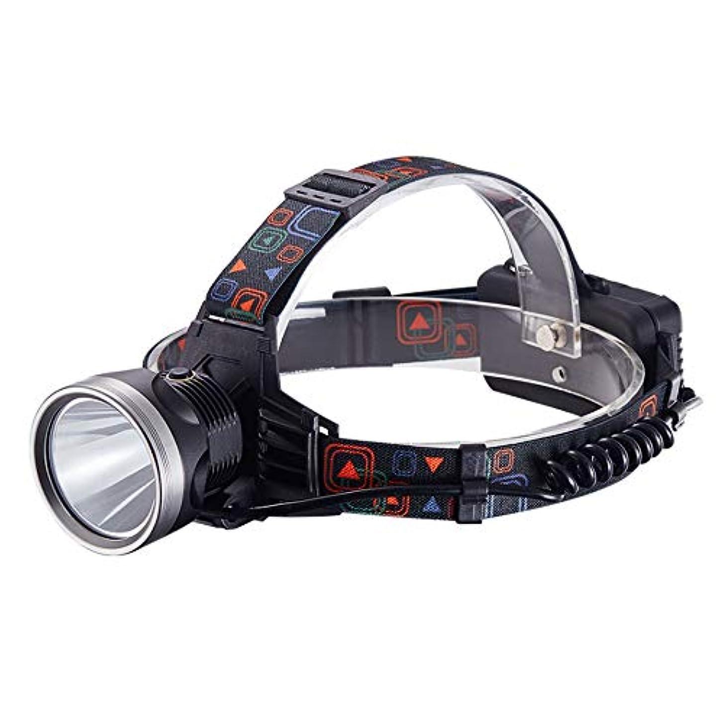 期限合理化無視ヘッドライト、長い電池寿命、強い光、キセノンランプ、充電式鉱夫用ランプ、超高輝度、懐中電灯、屋外狩猟、黄色の光
