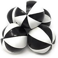 ビーンバッグジャグリングボール「8枚スター」ノーマルサイズ JUGGLE 4 FUN  (黒白, 5個セット)
