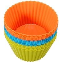 Happy_Child 12個入り カップケーキ型 マフィンカップ ベーキングカップ シリコン ラウンドのスタイル