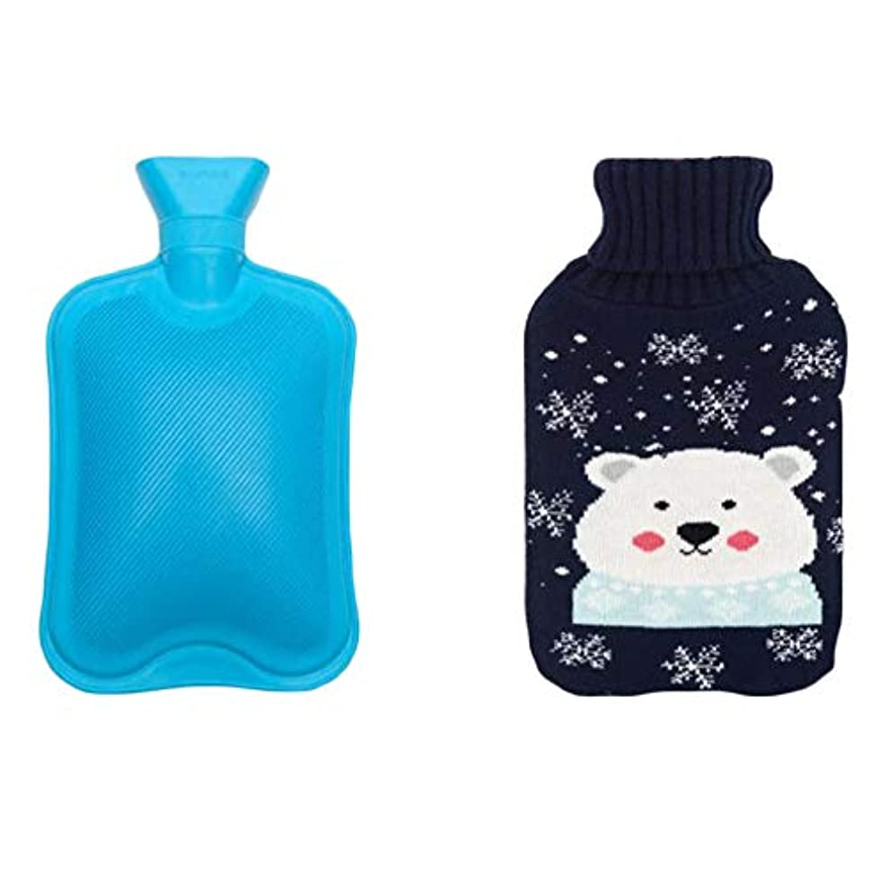 フルーツ誇りに思う感謝祭1リットルの温水ボトルラブリークマのデザイン