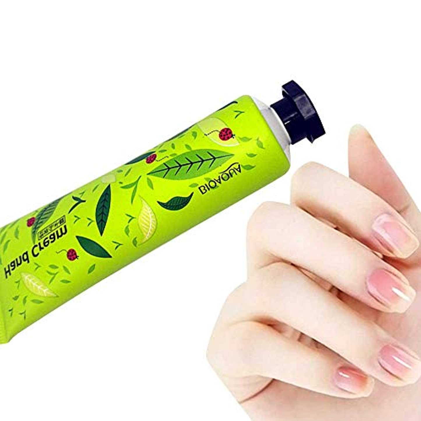 チャートゆでる懐疑論ハンドクリーム Akane BIOAOUA 植物エキス 潤う 保湿 水分補給 香り 手荒れを防ぐ 無添加 天然 乾燥肌用 自然 肌荒れ予防 Hand Cream