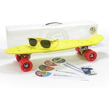 STEREO(ステレオ) Vinyl Cruiser Plastic Complete Skateboard Yellow/ステレオ バイナルクルーザー プラスティックコンプリート スケートボード イエロー