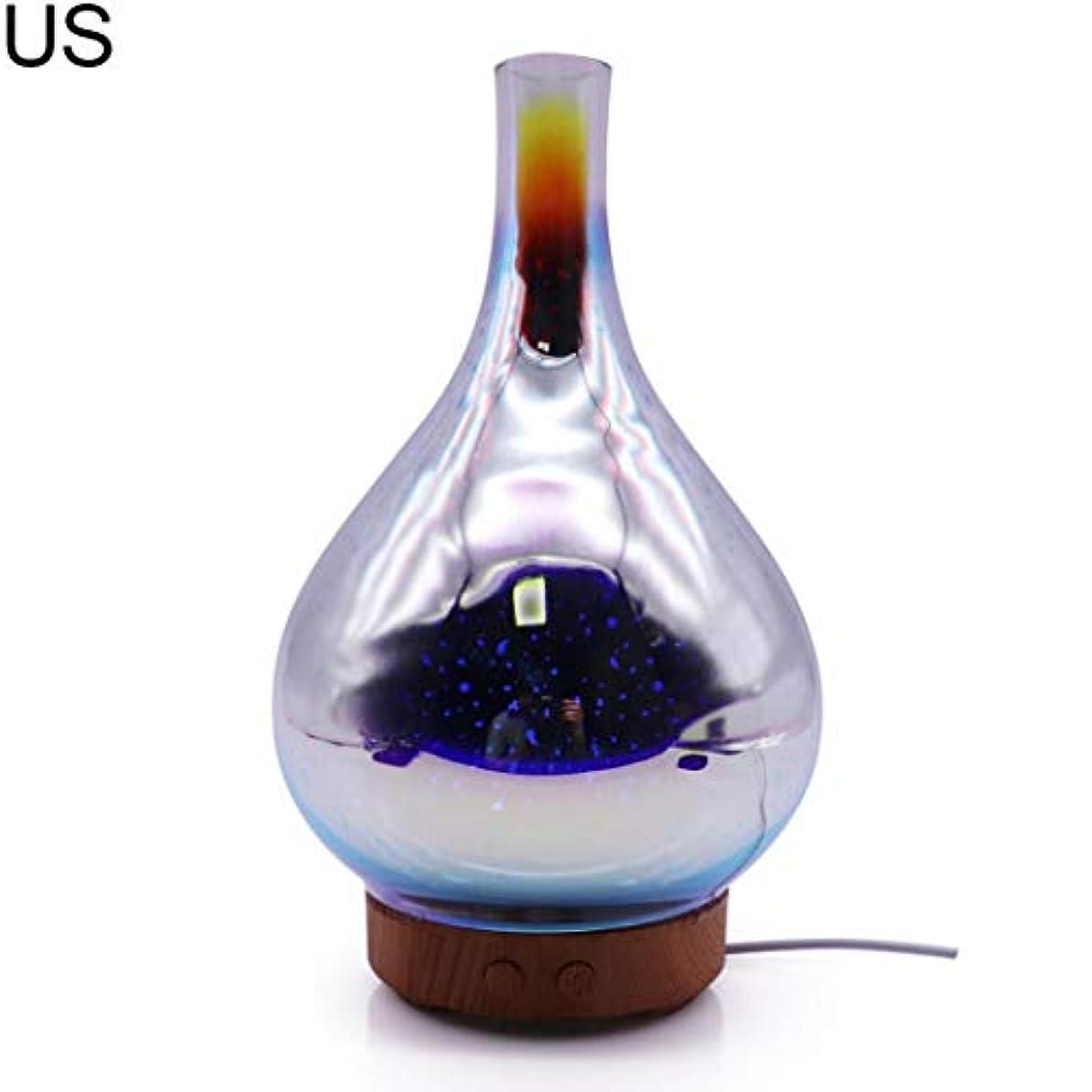 それる人形ジュニアat27clekca Aroma Diffuser Air Quality Improvement 3D Glass LED Night Light Ultrasonic Essential Oil Aroma Diffuser...