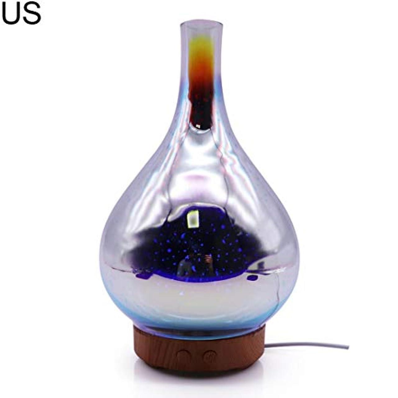 習熟度心のこもった共産主義者at27clekca Aroma Diffuser Air Quality Improvement 3D Glass LED Night Light Ultrasonic Essential Oil Aroma Diffuser Air Humidifier - US Plug 141[並行輸入]