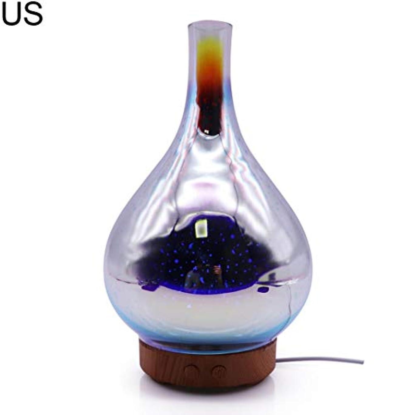 囲い雨の組み込むat27clekca Aroma Diffuser Air Quality Improvement 3D Glass LED Night Light Ultrasonic Essential Oil Aroma Diffuser...