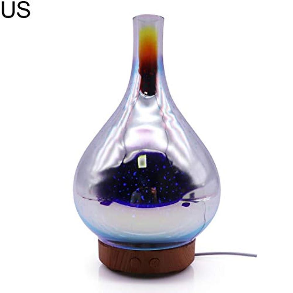 つかむ反映する海岸at27clekca Aroma Diffuser Air Quality Improvement 3D Glass LED Night Light Ultrasonic Essential Oil Aroma Diffuser...