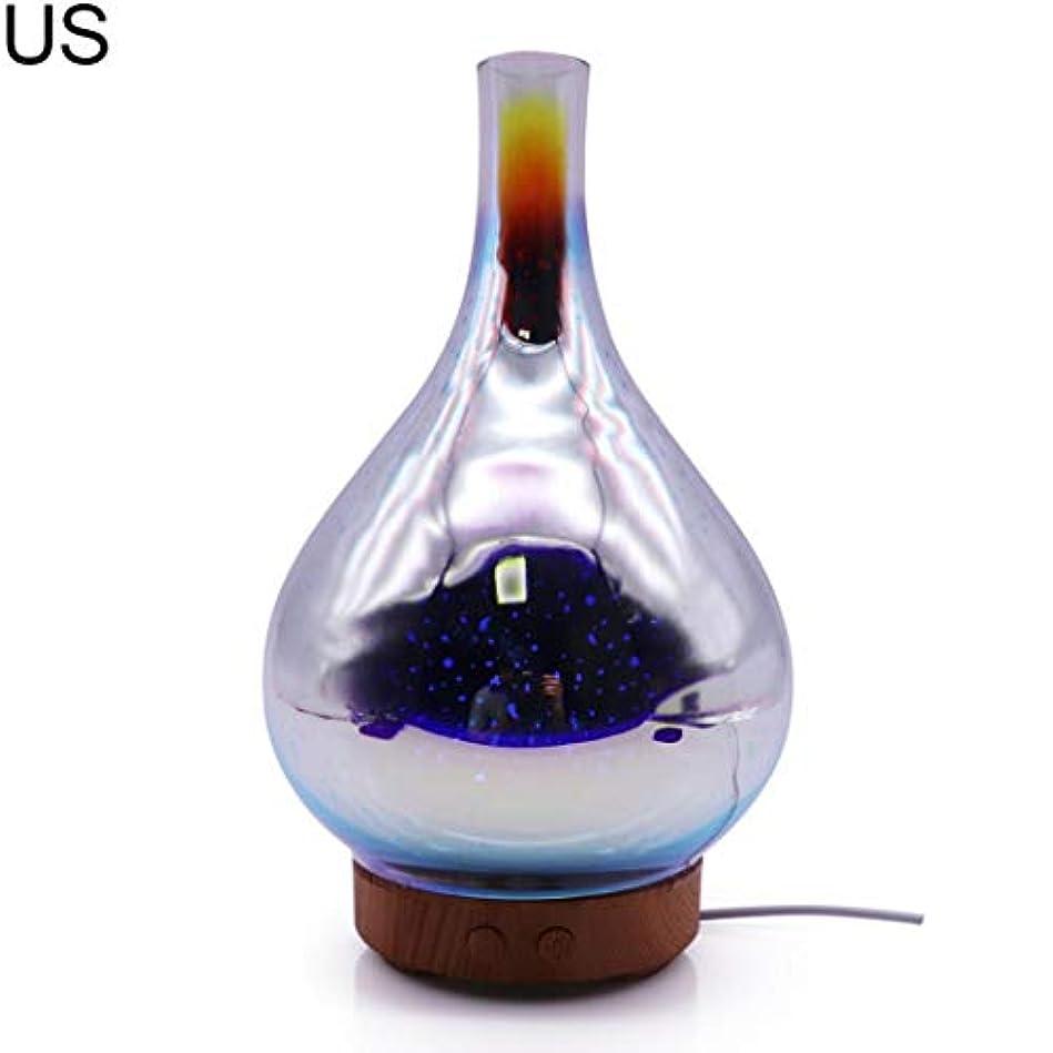 適合する仮定、想定。推測公平なat27clekca Aroma Diffuser Air Quality Improvement 3D Glass LED Night Light Ultrasonic Essential Oil Aroma Diffuser...