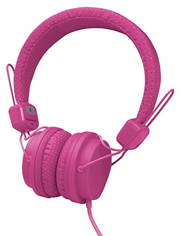 オーセラス販売 スマートフォン通話機能付 デザインヘッドホン ピンク  H-20PK