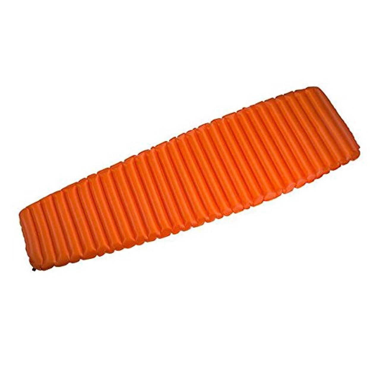 時間厳守ラベンダー資産anhpiアウトドア自動インフレータブルSingle Sleeping Pad軽量ポータブル登山水分パッド独立性パッドキャンプテントインフレータブルマットレス オレンジ 23674