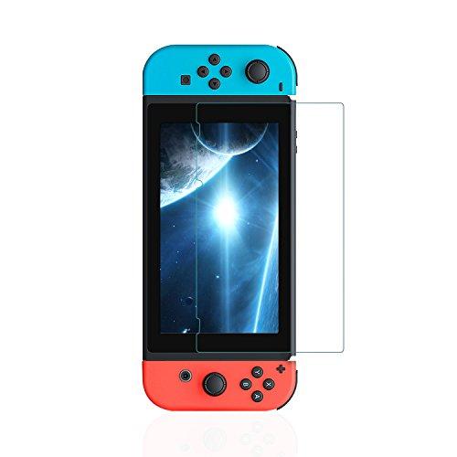 Nintendo Switch用強化ガラスフィルム 硬度9H 超薄 衝撃保護 撥油性 指紋防止 3Dラウンドエッジ加工 超精密 気泡ゼロ 飛散防止タッチ感度良好 高透過率
