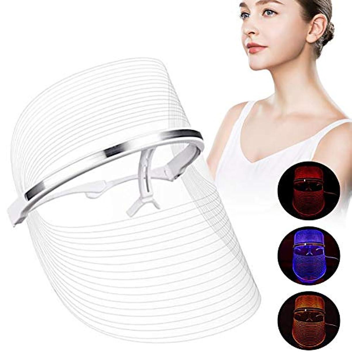 LEDライトフォトンフェイスマスク肌の若返りしわの除去フェイシャルスパしわの除去スポットスキンホワイトニング