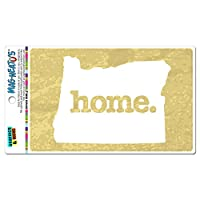 オレゴン州OR ホーム州 MAG-NEATO'S(TM) ビニールマグネット - テクスチャ黄