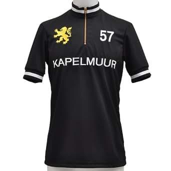 (カペルミュール)KAPELMUUR 半袖レトロジャージ ブラック kphs006  ブラック L