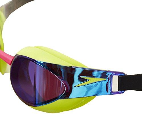 Speedo(スピード) スイミングゴーグル 競泳用 ゴーグル エリートゴーグルミラー SD92G53 LV (ライムパンチ×ヴァイオレット)