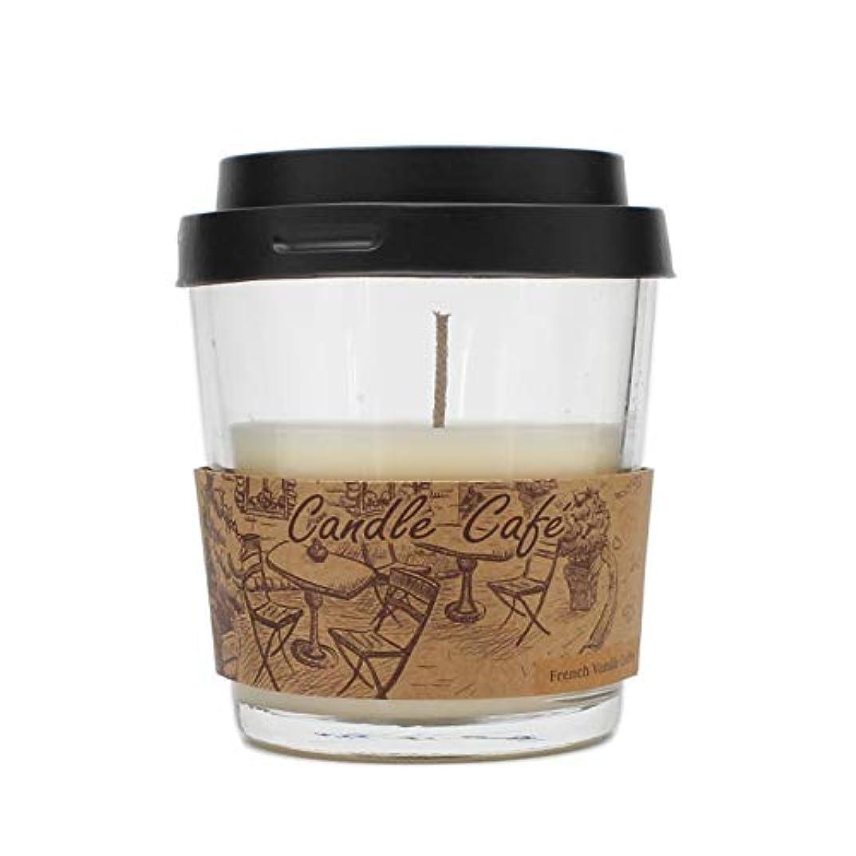 まつげ同級生焦がすコーヒーカップCandle Glass Jar Scented Candle ベージュ