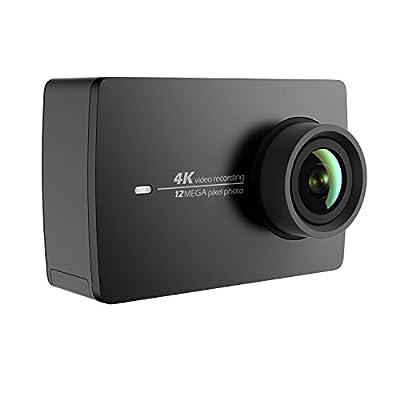 YI 4K アクションカメラ スポーツカメラ ウェアラブルカメラ 155°広角レンズ JP版 オリジナル正規品 黒 90049