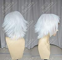 FidgetGear Tokyo Ghoul Juzo Suzuya Juuzouショートホワイトスタイルコスプレヘアウィッグ+ 5レッドクリップ かつらのみ