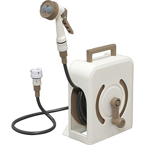 RoomClip商品情報 - アイリスオーヤマ(IRIS OHYAMA) (AAEZP) ホース ホースリール フルカバー ハンディ 15M 手が汚れにくく耐久性抜群 アイボリー