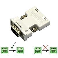 weiay HDMIメスto VGAオスビデオアダプタ変換装置、オーディオホワイト