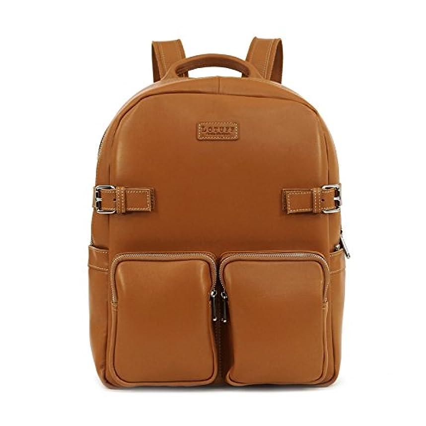 便宜ツール学ぶLOTUFF(ロトプ) 5 Color バックパック ビジネスバッグ デイパックLO-1632 PCバッグ メンズ レディース Leather Backpack [並行輸入品]
