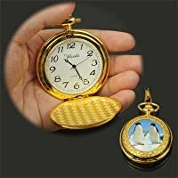 YLY 懐中時計 蓋付き 時計 ローマ数字 ナースウォッチ メンズ レディース