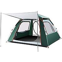 ポップアップテントキャンプインスタント油圧自動ドームテント防雨軽量屋外厚く家族のテント (色 : Green)
