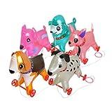 【ビニール玩具】お散歩犬 足つき・大 (5個入)  / お楽しみグッズ(紙風船)付きセット