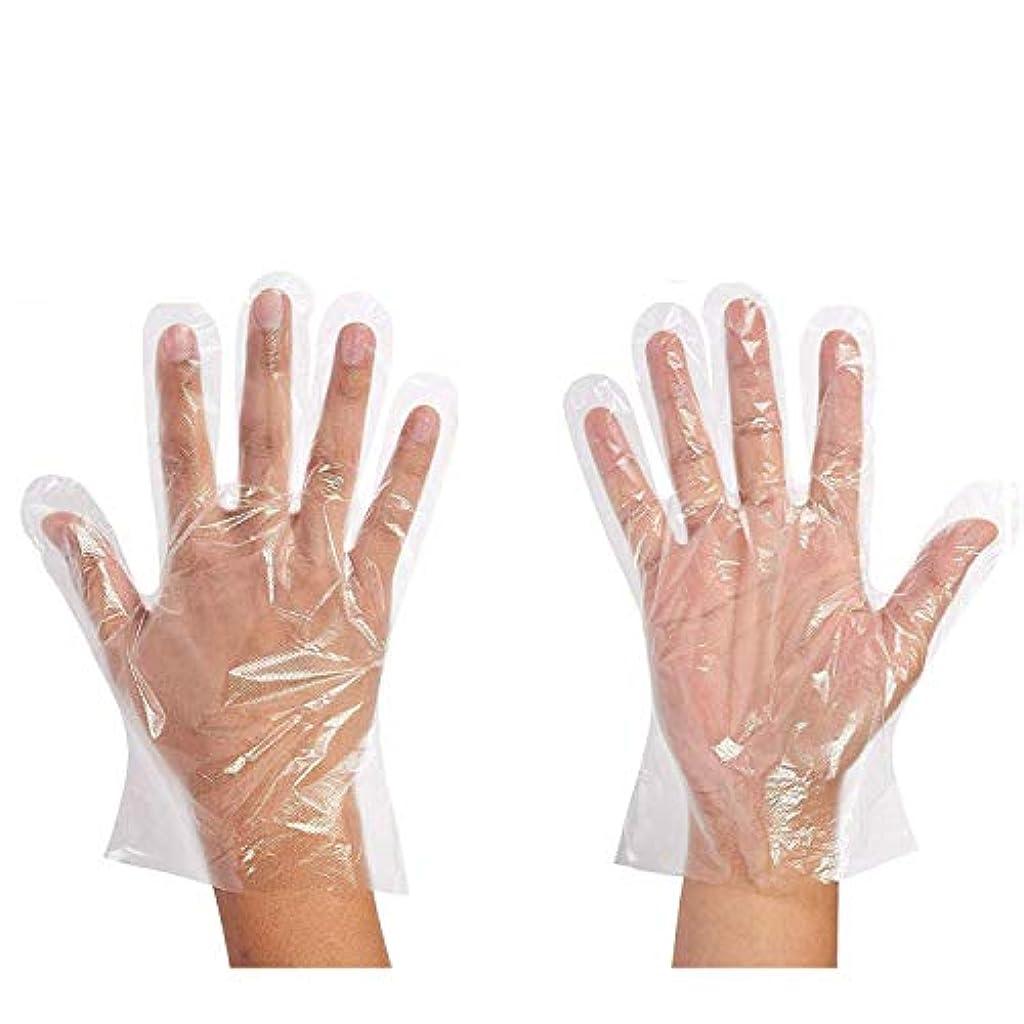 セージなだめる心のこもった500枚セット使い捨て手袋 ポリエチレン 極薄ビニール手袋 実用 衛生 極薄手袋毛染めに 調理に お掃除に 透明