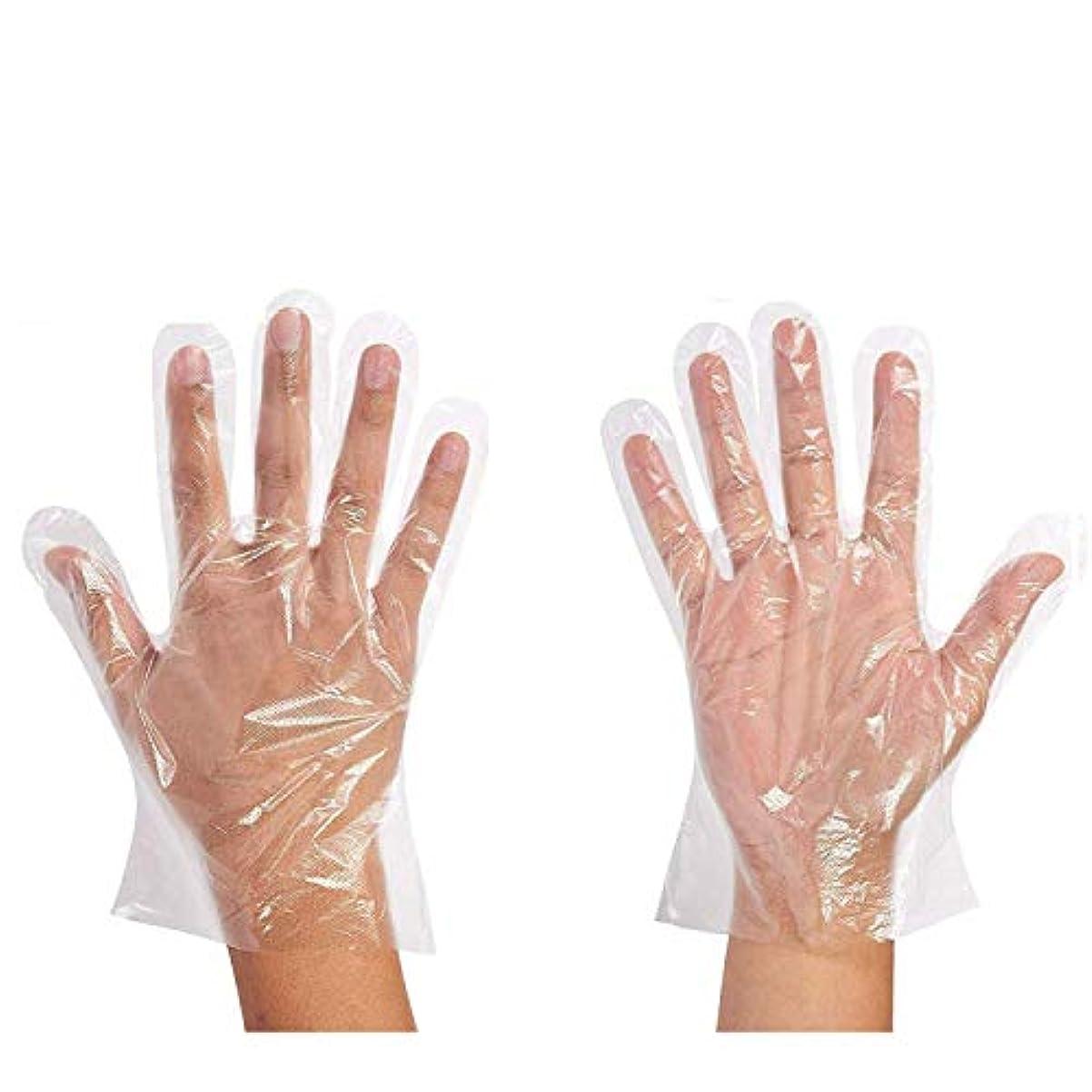 独創的強化するすなわち500枚セット使い捨て手袋 ポリエチレン 極薄ビニール手袋 実用 衛生 極薄手袋毛染めに 調理に お掃除に 透明