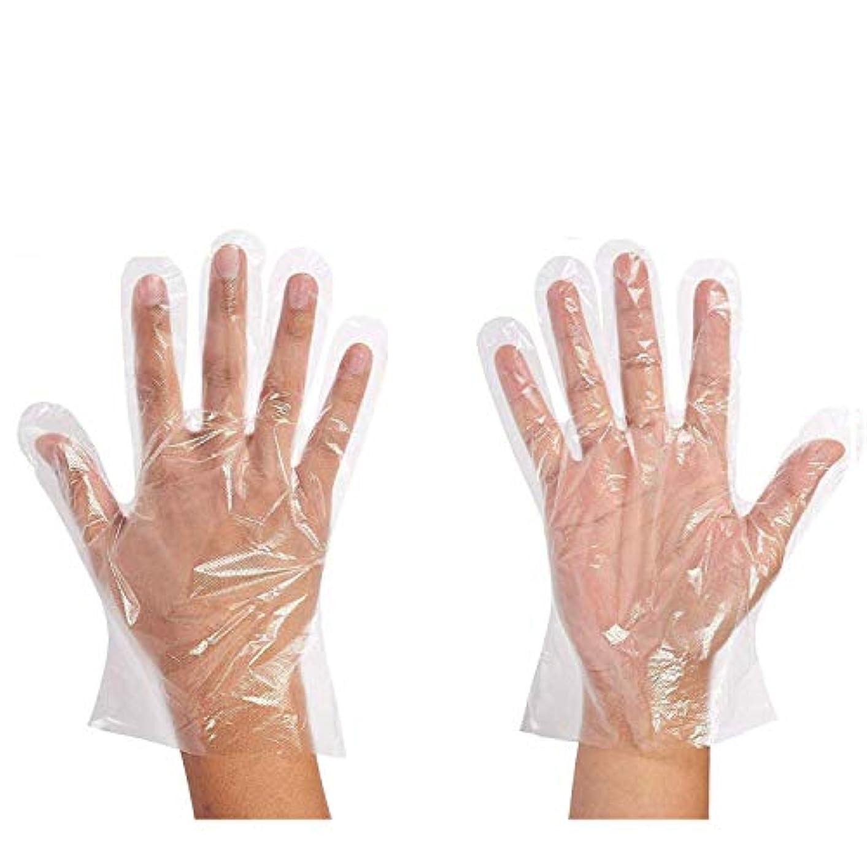 尊敬する揮発性ひそかに500枚セット使い捨て手袋 ポリエチレン 極薄ビニール手袋 実用 衛生 極薄手袋毛染めに 調理に お掃除に 透明
