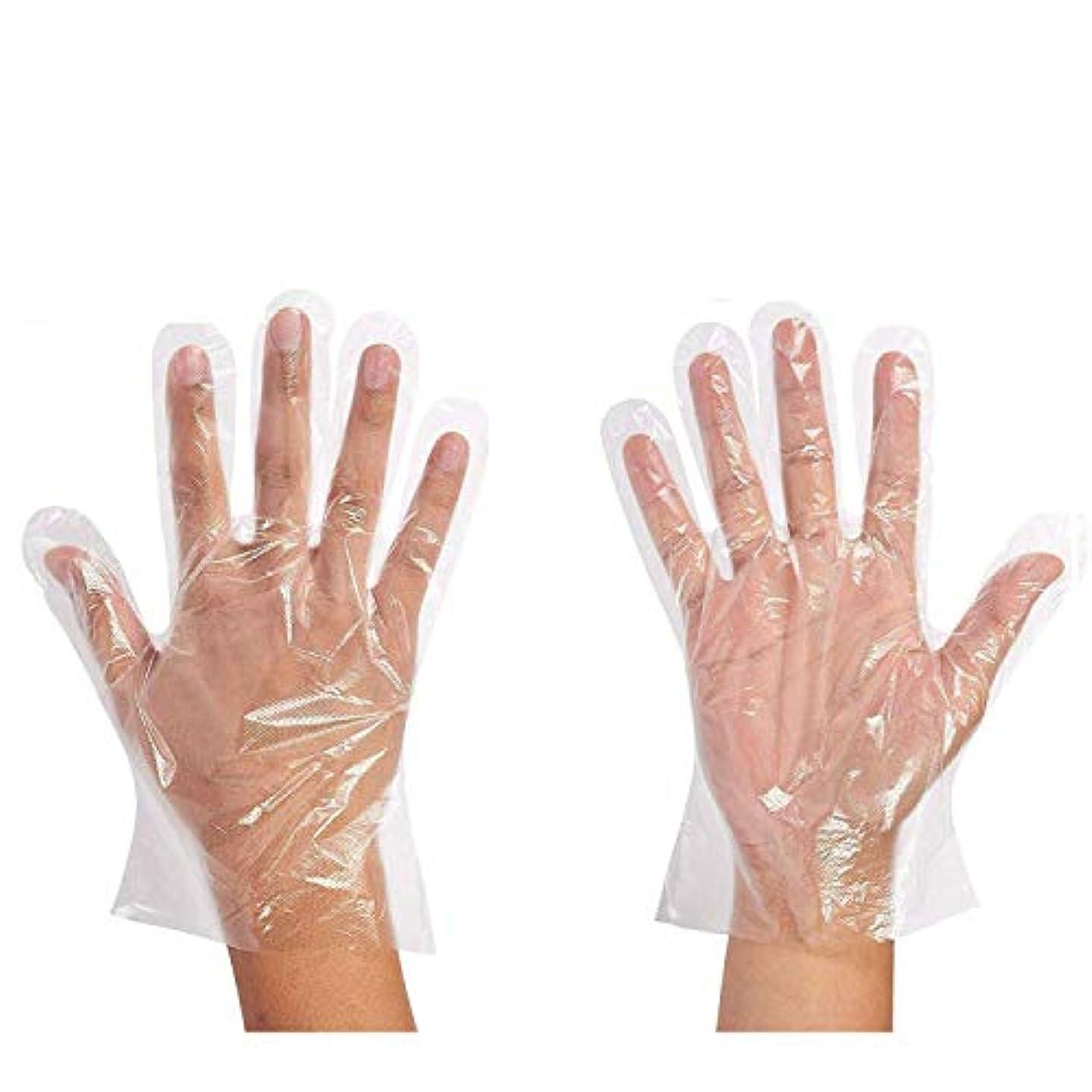 変更可能親愛な立ち寄る500枚セット使い捨て手袋 ポリエチレン 極薄ビニール手袋 実用 衛生 極薄手袋毛染めに 調理に お掃除に 透明