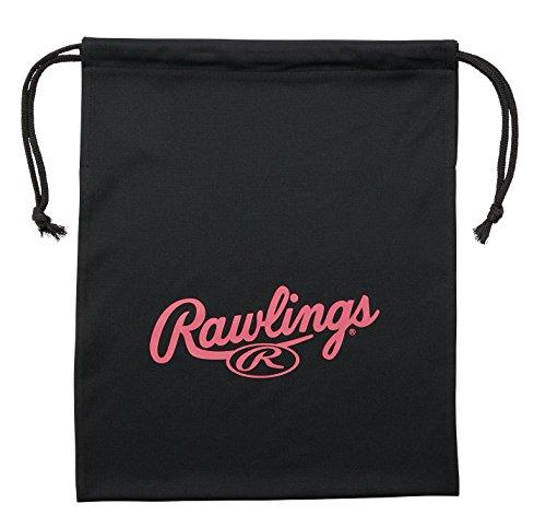 ローリングス(Rawlings) グラブ袋 EAC8F07 ブラック/ピンク 37×30cm