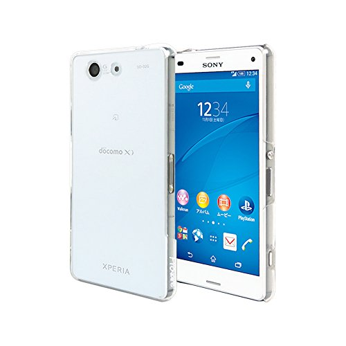 Xperia Z3 Compact ケース | Xperia Z3 Compact ハードケース クリアケース | Provare PVSO02GHDCCR | ポリカーボーネート 耐衝撃 | SO-02G (Xperia Z3 Compact, クリア)