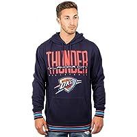 UNK NBA Men's Fleece Hoodie Pullover Sweatshirt Focused Stripe, Team Color