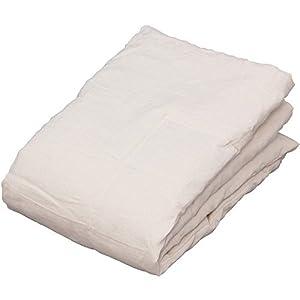 敷きパッド 接触涼感 亜麻 フレンチリネン 100% 洗える 抗菌 防臭 140×205cm ダブル アイボリー