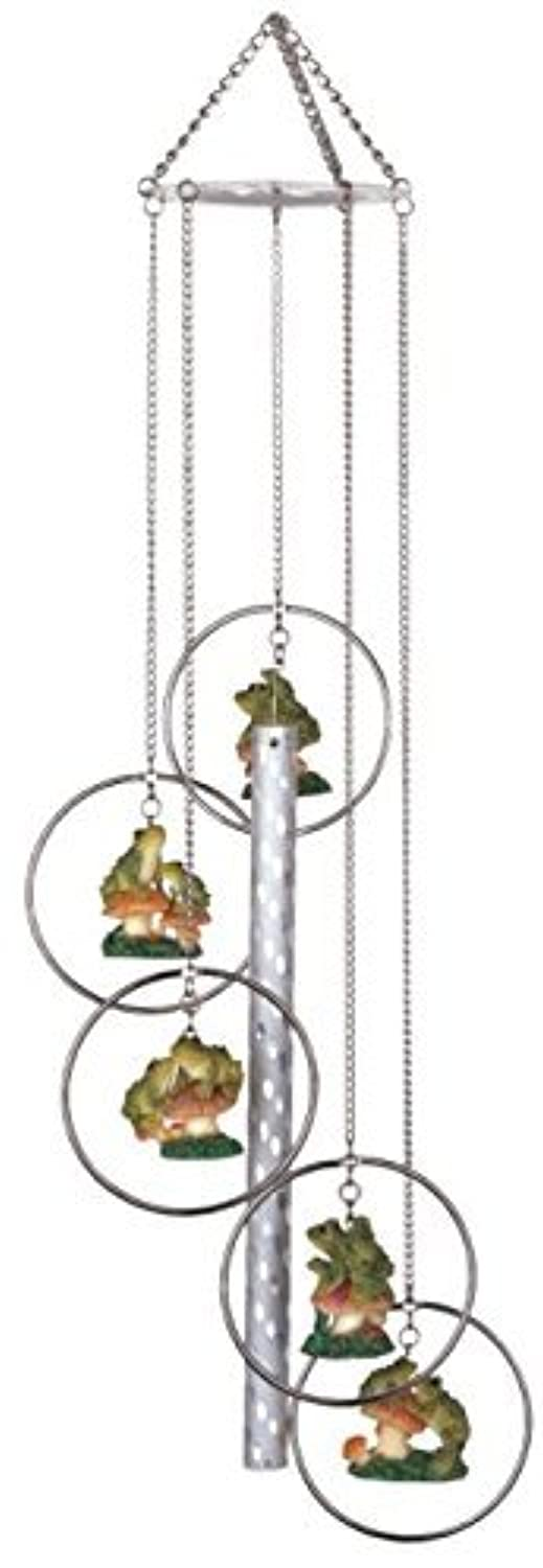 StealStreet 5 Ring Polyresin Charm Frog Music Hanging Garden Decoration Wind Chime【クリスマス】【ツリー】 [並行輸入品]