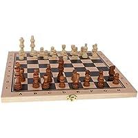 SunniMix おもちゃ バックギャモン ボードゲーム チェッカー 駒 チェス 3種類遊び方