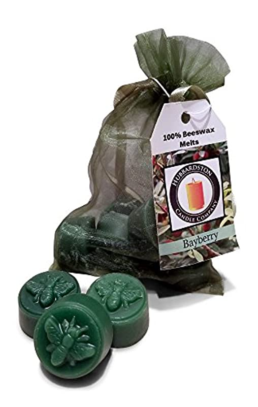 ホステスバルブ対(6) - Bayberry Scented Beeswax Melts, Hand Poured by Hubbardston Candle Company (6)