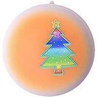 Oldeagle クリスマスツリーブレッド ゆっくり元に戻る圧力スクイーズ ストレス解消玩具 キーチェーン 子供と大人用 8x 8x 5CM オレンジ 84374145